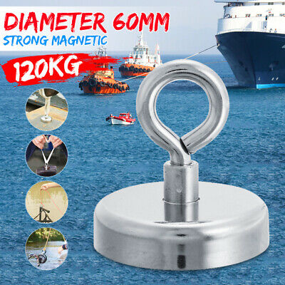 60mm 120KG/440LB  Strong Powerful Magnet Neodymium Recovery Fishing For