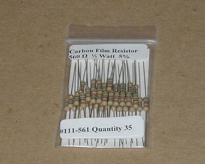 50 pcs 560 Ohm 5/% 1 Watt  *** New ***
