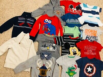 16 T-SHIRTS/SWEATERS toddler Boy 18mo-2T