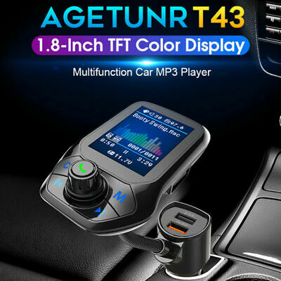 Bluetooth5.0 Car Wireless FM Transmitter MP3 Radio Adapter Car Set 2 USB Charger