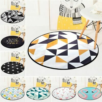 Play Mat Baby Crawling Pad Soft Round Room Decorative Carpet Kids Game Tent Rug