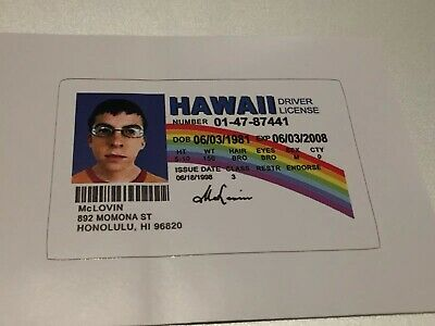 """McLovin ID Sticker from Movie Superbad Fogel Decal - 2.6"""" x 1.7""""  Free Shipping"""