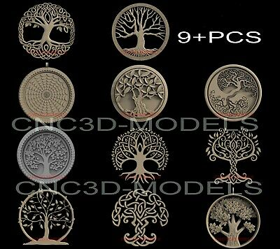 3D Model STL for CNC Router Engraver Carving Artcam Aspire Tree Wood Pano IS105