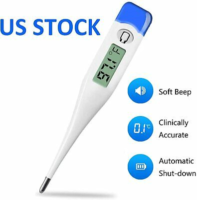 Digital Fever Thermometer for Adults and Kids, Medical Oral/Rectal/Underarm Body