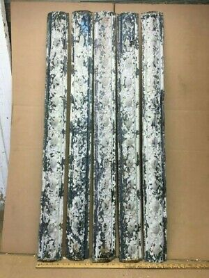 """5pc Lot 48"""" x 4.5""""  Rounded Molding Antique Ceiling Tin Vintage Reclaim Salvage"""