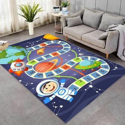 Play Mat Crawling Pad Soft Non Slip Kids Bedroom Tent Carpet Activity Game Rug