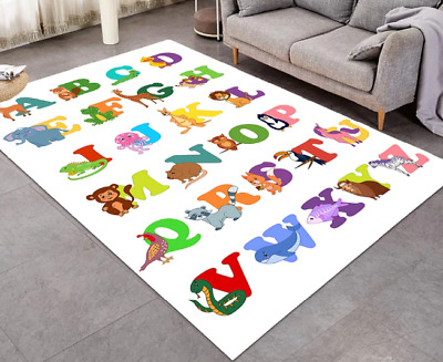 Play Mat Educational Letter Animal Pattern Crawling Pad Soft Non Slip Carpet 1pc