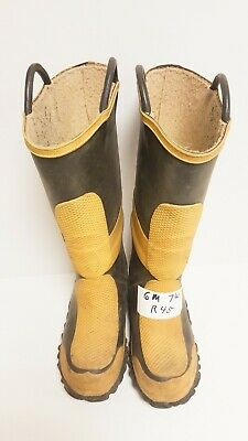 Morning Pride Firefighter Turnout Rubber Boots Size: Mens 6 Woman's 7 Wide R45