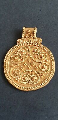 Viking large Solid Gold Pendant with Filigree bands 8th-9th century AD