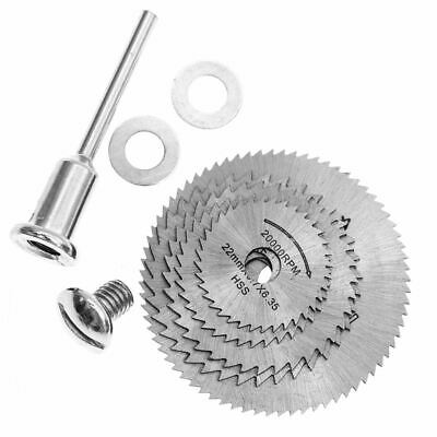 6 Pcs 22-44mm HSS Circular Saw Blade Cutting Discs Set with 2 gaskets for DO5H4