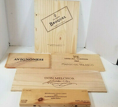 Wooden Wine Crate Box Sides Lot of 5 Barware Decor