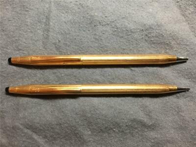 CROSS Classic - 1/20 14KT Gold Filled - Pen & Pencil set - Used - 1970's