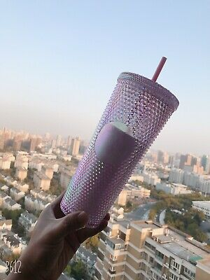 New 2020 Starbucks China - Iridescent, Studded Siren-logo Cup with Straw