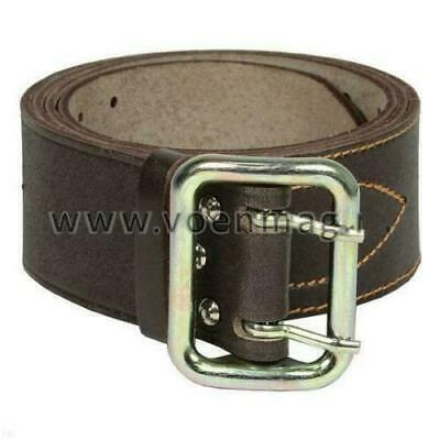Original Genuine Russian army Officer's military belt - Natural leather - Brown