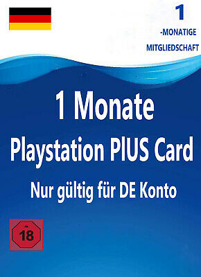 DE Playstation Plus 1 Monate Mitgliedschaft 30 Tage - PSN PS4 PS3 Code