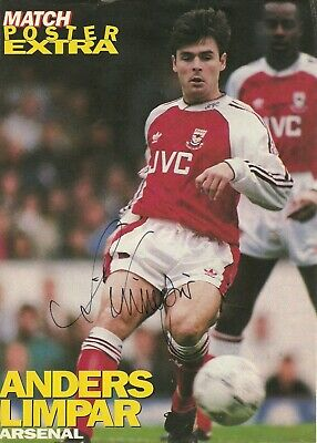PANINI PFA FOOTBALL 97 #154-EVERTON /& SWEDEN-ARSENAL-ANDERS LIMPAR