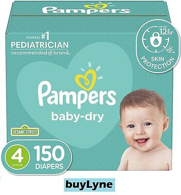 Pampers Baby Dry Diapers - Size 4 (150ct) **buyLyne**