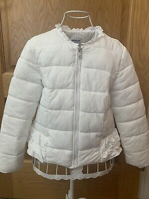 Mayoral Girls Ivory Ruffle Jacket Age 8 Excellent Condition