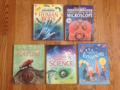 Lot 5 USBORNE COMPLETE BOOK OF ... Books Mysteries & Marvels & More VGC Science