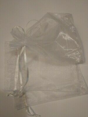 50Pcs/bag White Organza Bags Sheer Jewellery Wedding Candy Packaging Gift Bags