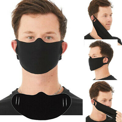 Mask qty 5 Lightweight SUPER SOFT Fabric Face Cover Black cotton poly blend