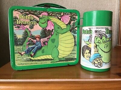 Vintage Pete's Dragon Lunchbox And Thermos
