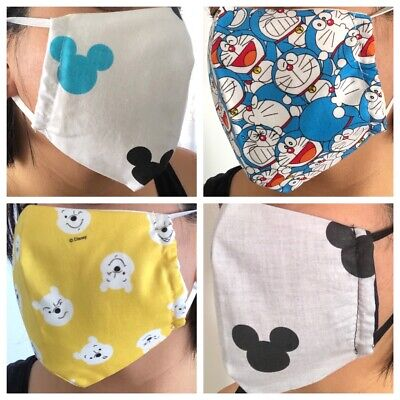 Adult Handmade Face Mask Light Weight 100% cotton with filter slot