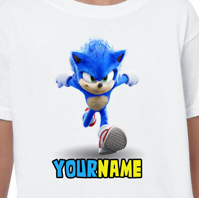 Sonic The Hedgehog Personalised T-shirts Age 1-13 Years Tops Any Name