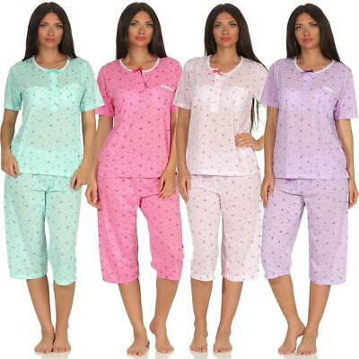 Women's Pyjamas 3/4 Summer Zwei-Teiliger Pyjama Pyjama Set Nightwear