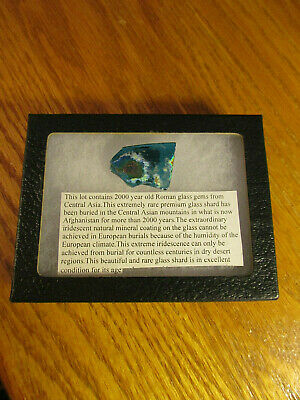 2000 Year Old Rare Roman Premium Glass Shard In Good Condition