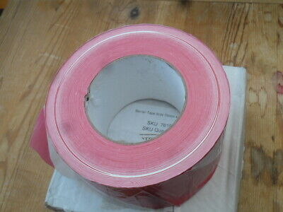 Non Adhesive Barrier Tape Hazard Warning Danger Red & White FREE UK POSTAGE
