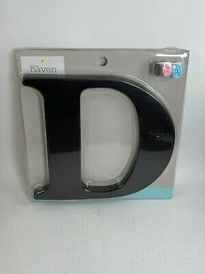 """Little Haven Hanging Wall Letter Black D - 8"""" Tall"""