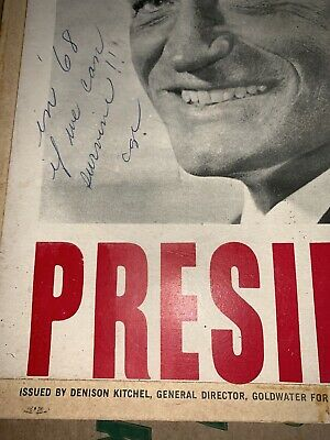 Barry Goldwater Campaign Sign / Poster Presidential President