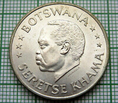 Botswana 1966 50 Cents, Independence Silver Unc Lustre