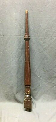 Antique Turned Wood Spindle Baluster Cherry Hardwood Staircase Vtg 385-20B