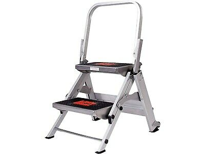 Little Giant Safety 2 Step 1.5'H Aluminum Step 10210BA