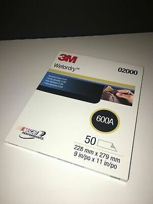 3M Wetordry Abrasive Sheets 600A 50 Count Pack 02000