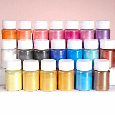 4pcs Pearl Pigment Powder for Epoxy Resin Floors Metallic Dye Ultra Mixed Color@