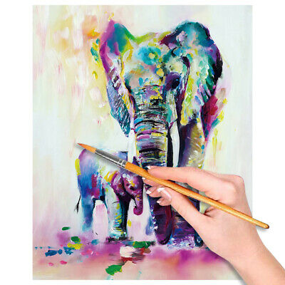 Paint by Numbers Kit DIY Oil Painting UnFramed Home Wall Decor Colorful Elephant