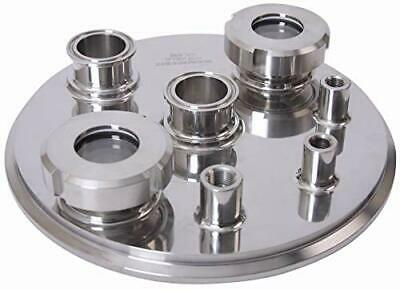 BVV 12 Tri-Clamp 304 Stainless Steel Jacketed Hemispherical Reducer with 2 Tri-Clamp Drain Port