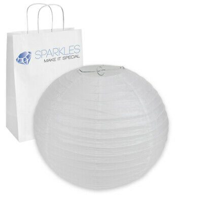 """14"""" inch Chinese Paper Lantern - White - Wedding Party Event Decoration gj"""
