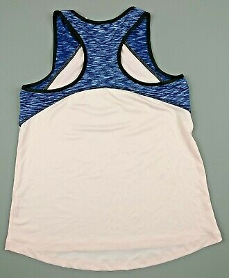 Matalan Souluxe Pink & Blue Exercise Gym Workout Vest Top Age 12-13 Years - NEW