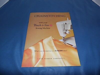 Vintage 1964 Chainstitching Touch /& Sew Sewing Machine Instruction Manual Book