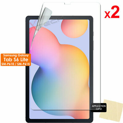 "2x CLEAR Screen Protector Covers for Samsung Galaxy Tab S6 Lite 10.4"" P610 P615"