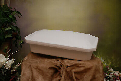 "Newnak's Small 18"" Economy Pet Casket White"