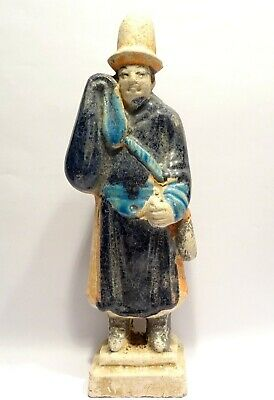 Statue Chinese Ming Dynasty - Sancai - 1638/1644 ad - Attendant Sculpture