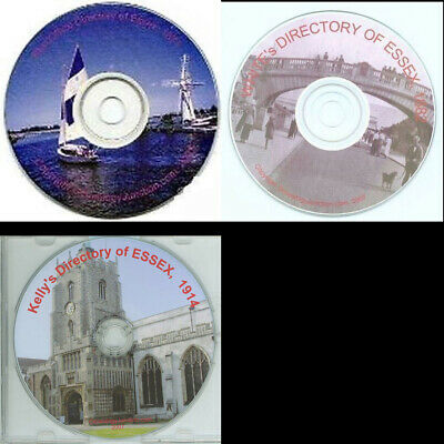 ESSEX KELLY's DIRECTORY 1882, 1874, 1914 Genealogy CD - select option