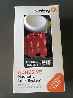 Safety 1st Adhesive Magnetic Lock System 2 Locks 1 Key NEW  Free Shipping