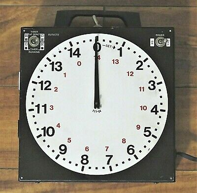 Vintage Gra-Lab 15 Minute Timer Model 172 with Buzzer, Sports, Lab, Darkroom