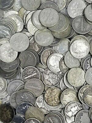 Troy Pound LB U.S 1SILVER!! Mixed Silver Coins Lot No Junk Pre-1965 One 1//4